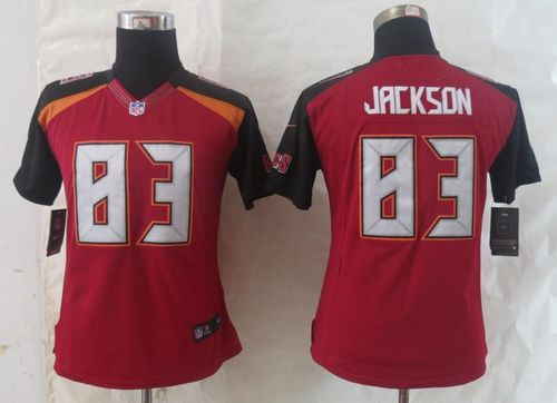 Nike Buccaneers #83 Vincent Jackson Red Team Color Women's Stitched NFL New Limited Jersey