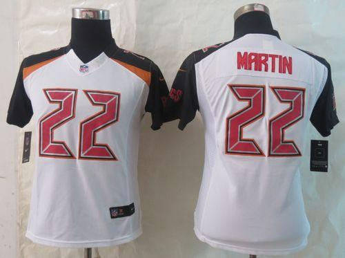 Nike Buccaneers #22 Doug Martin White Women's Stitched NFL New Limited Jersey