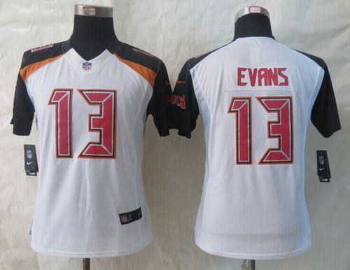 Nike Buccaneers #13 Mike Evans White Women's Stitched NFL New Limited Jersey
