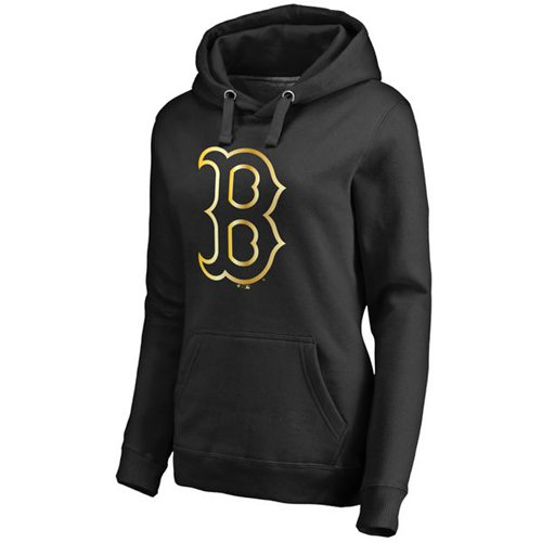 Women's Boston Red Sox Gold Collection Pullover Hoodie Black