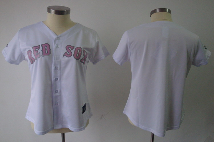 Red Sox Blank White Women's Fashion Stitched MLB Jersey