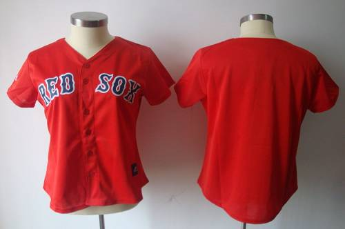 Red Sox Blank Red Women's Fashion Stitched MLB Jersey