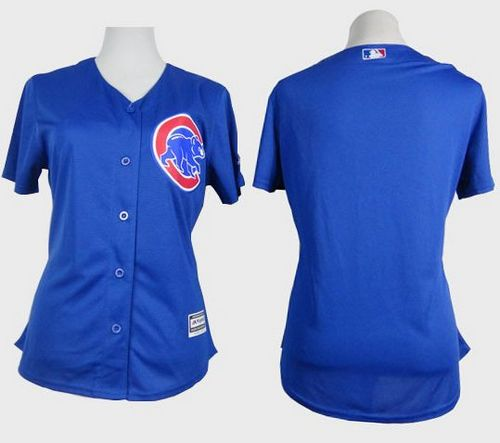 Cubs Blank Blue Alternate Women's Stitched MLB Jersey