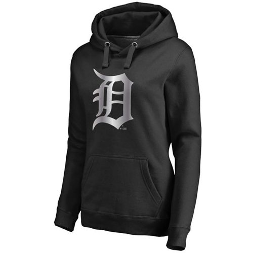 Women's Detroit Tigers Platinum Collection Pullover Hoodie Black
