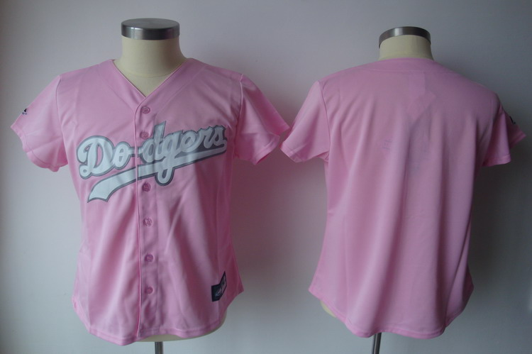 Dodgers Blank Pink Women's Fashion Stitched MLB Jersey
