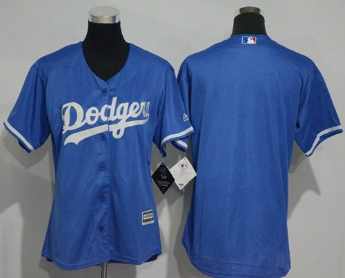 Dodgers Blank Blue Women's Fashion Stitched MLB Jersey