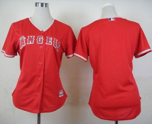 Angels Blank Red Alternate Women's Stitched MLB Jersey