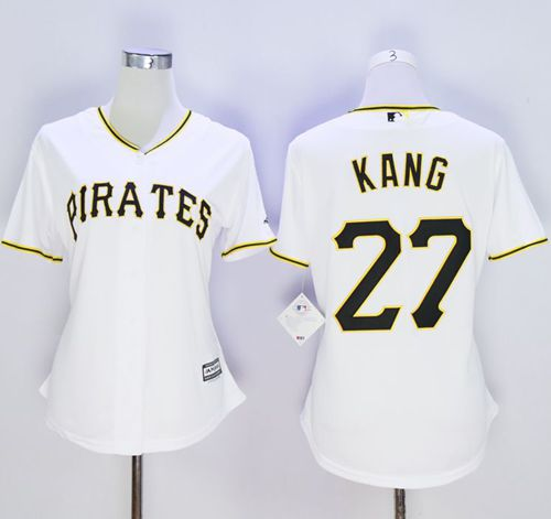 Pirates #27 Jung-ho Kang White Women's Home Stitched MLB Jersey