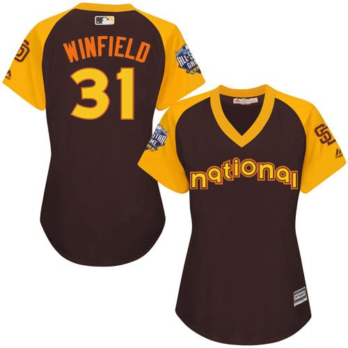 Padres #31 Dave Winfield Brown 2016 All-Star National League Women's Stitched MLB Jersey