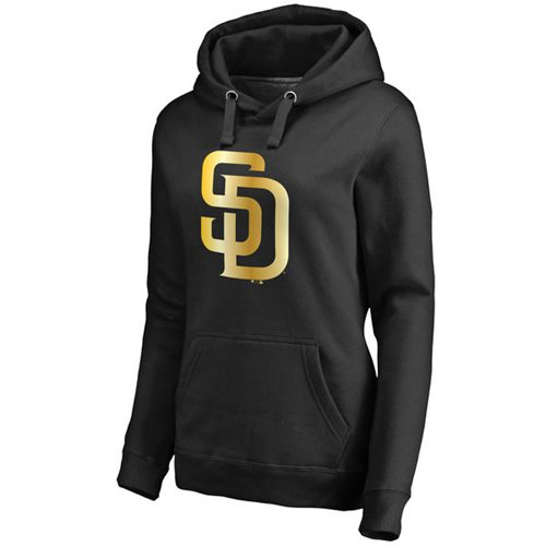 Women's San Diego Padres Gold Collection Pullover Hoodie Black