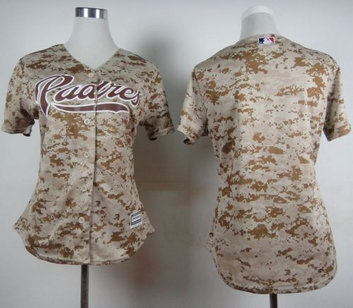 Padres Blank Camo Alternate 2 Women's Stitched MLB Jersey