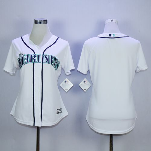 Mariners Blank White Women's Fashion Stitched MLB Jersey