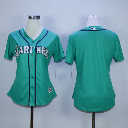 Mariners Blank Green Alternate Women's Stitched MLB Jersey