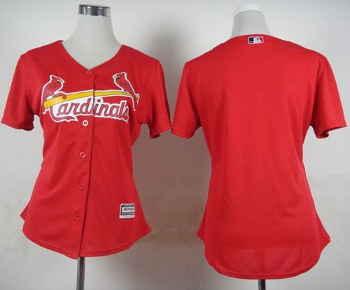 Cardinals Blank Red Fashion Women's Stitched MLB Jersey