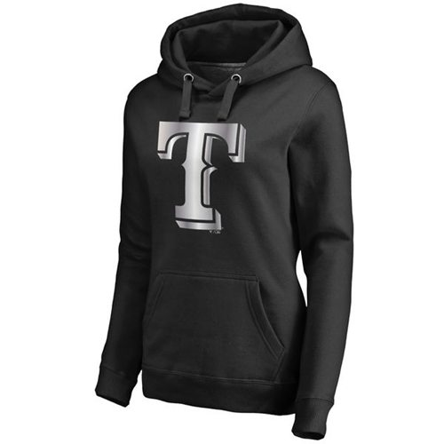 Women's Texas Rangers Platinum Collection Pullover Hoodie Black