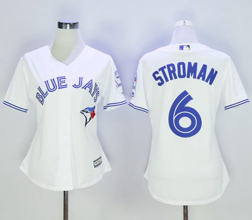Blue Jays #6 Marcus Stroman White Women's Home Stitched MLB Jersey