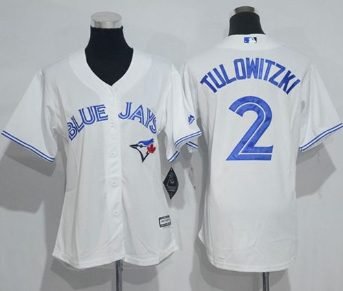 Blue Jays #2 Troy Tulowitzki White Women's Home Stitched MLB Jersey