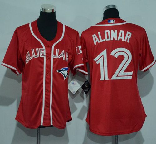 Blue Jays #12 Roberto Alomar Red Women's Canada Day Stitched MLB Jersey