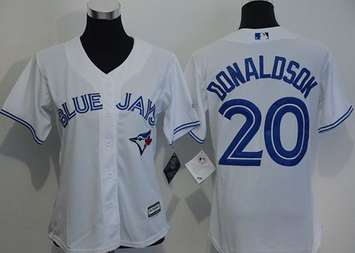 Blue Jays #20 Josh Donaldson White Women's Home Stitched MLB Jersey