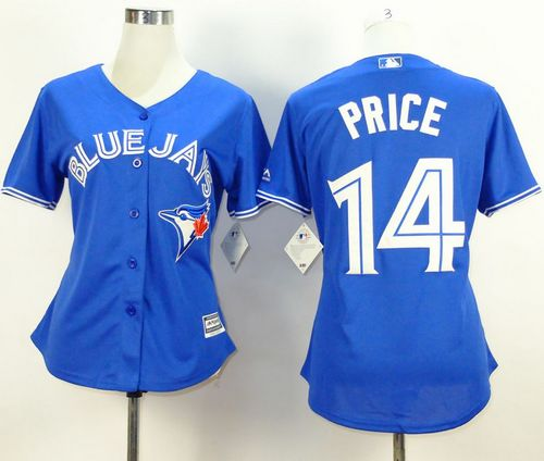 Blue Jays #14 David Price Blue Alternate Women's Stitched MLB Jersey