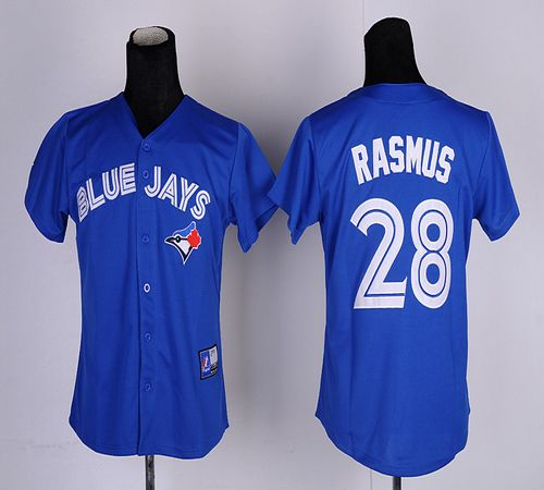 Blue Jays #28 Colby Rasmus Blue Women's Fashion Stitched MLB Jersey
