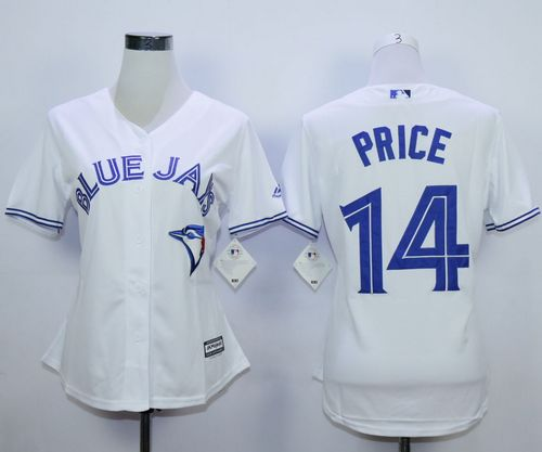Blue Jays #14 David Price White Home Women's Stitched MLB Jersey