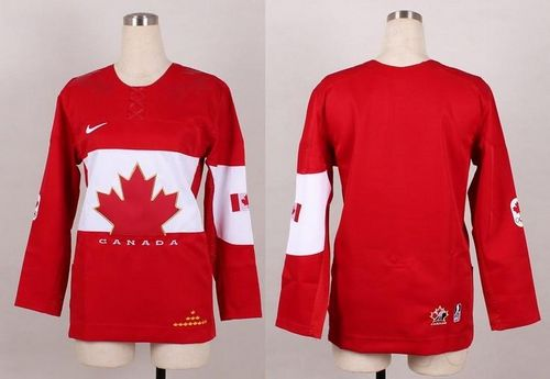 Olympic 2014 CA. Blank Red Women's Stitched NHL Jersey