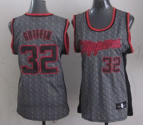 Clippers #32 Blake Griffin Grey Women's Static Fashion Stitched NBA Jersey