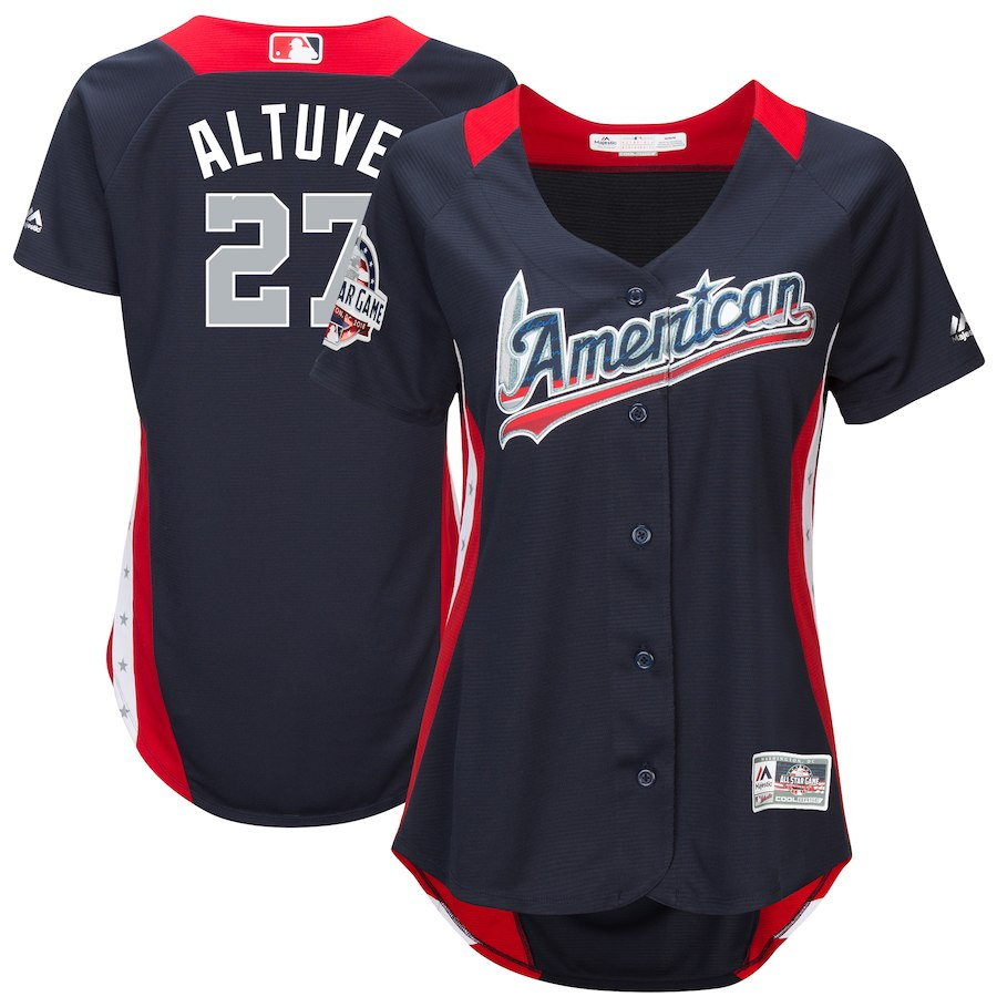 Women's American League Jose Altuve Navy 2018 MLB All-Star Game Home Run Derby Player Jersey
