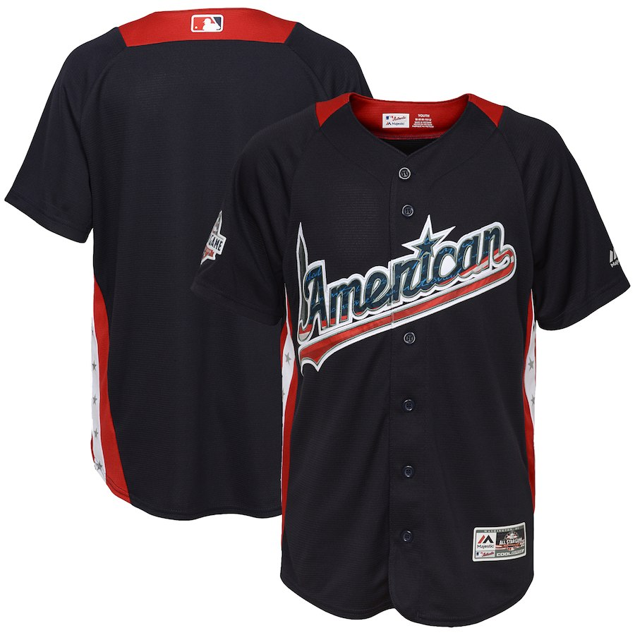 Youth American League Navy 2018 MLB All-Star Game Home Run Derby Team Jersey