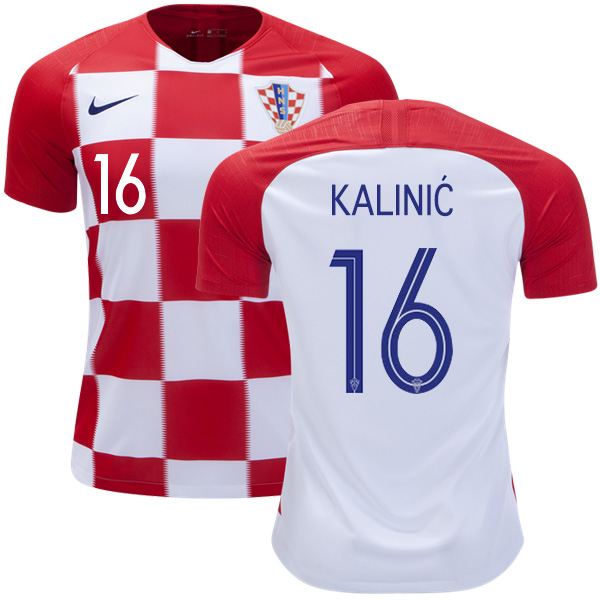 Croatia #16 Kalinic Home Kid Soccer Country Jersey