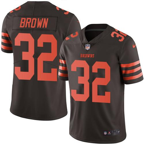 Nike Browns #32 Jim Brown Brown Youth Stitched NFL Limited Rush Jersey