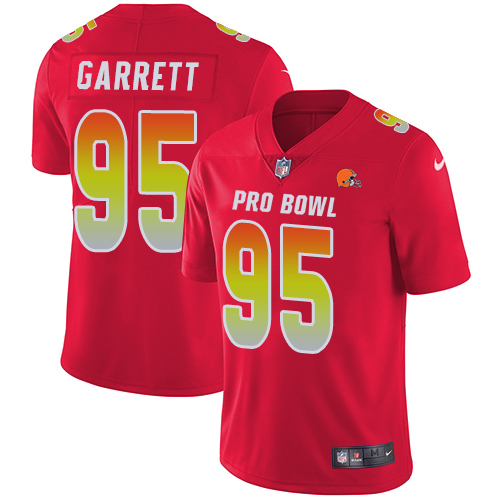 Nike Browns #95 Myles Garrett Red Youth Stitched NFL Limited AFC 2019 Pro Bowl Jersey