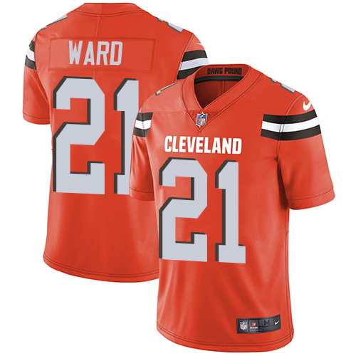 Nike Browns #21 Denzel Ward Orange Alternate Youth Stitched NFL Vapor Untouchable Limited Jersey