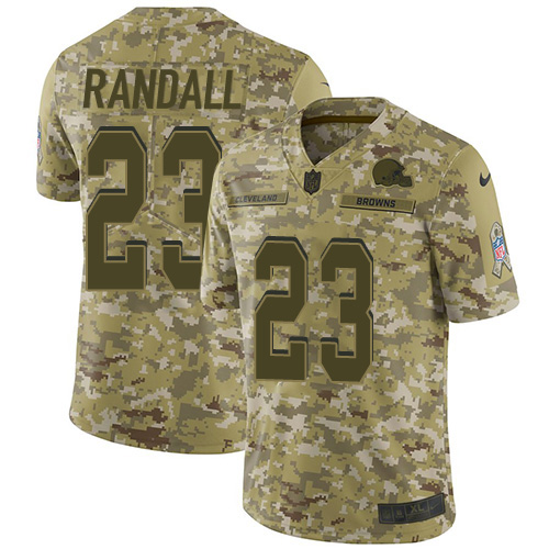 Nike Browns #23 Damarious Randall Camo Youth Stitched NFL Limited 2018 Salute to Service Jersey