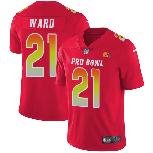Nike Browns #21 Denzel Ward Red Youth Stitched NFL Limited AFC 2019 Pro Bowl Jersey