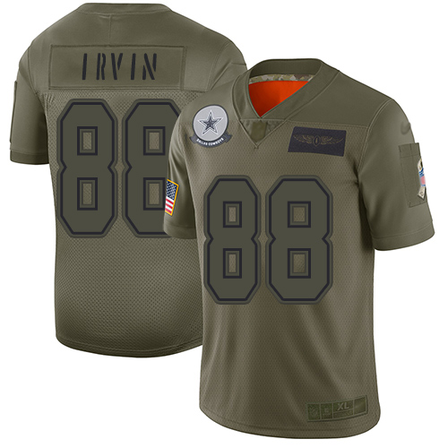 Nike Cowboys #88 Michael Irvin Camo Youth Stitched NFL Limited 2019 Salute to Service Jersey