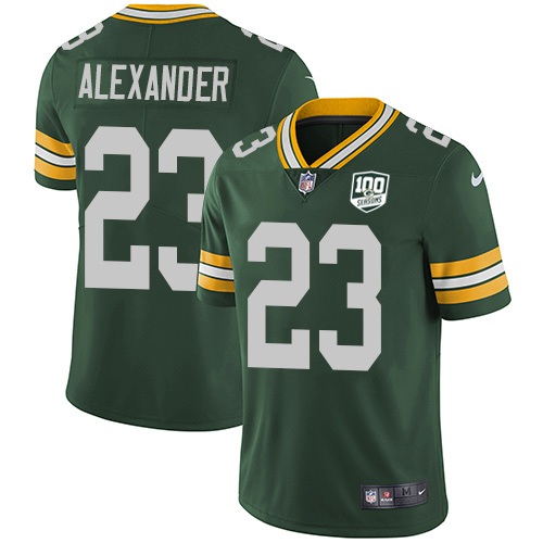 Nike Packers #23 Jaire Alexander Green Team Color Youth 100th Season Stitched NFL Vapor Untouchable Limited Jersey