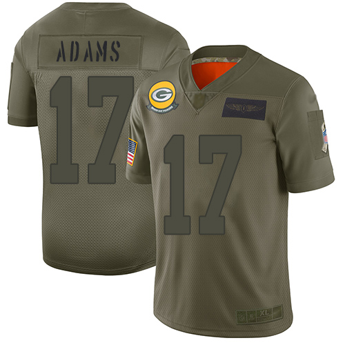 Nike Packers #17 Davante Adams Camo Youth Stitched NFL Limited 2019 Salute to Service Jersey