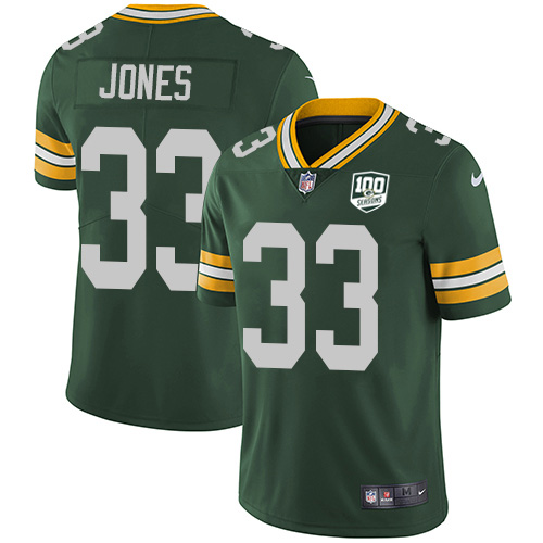 Nike Packers #33 Aaron Jones Green Team Color Youth 100th Season Stitched NFL Vapor Untouchable Limited Jersey