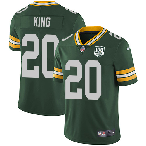 Nike Packers #20 Kevin King Green Team Color Youth 100th Season Stitched NFL Vapor Untouchable Limited Jersey