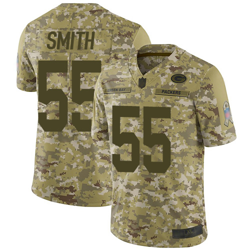 Nike Packers #55 Za'Darius Smith Camo Youth Stitched NFL Limited 2018 Salute to Service Jersey