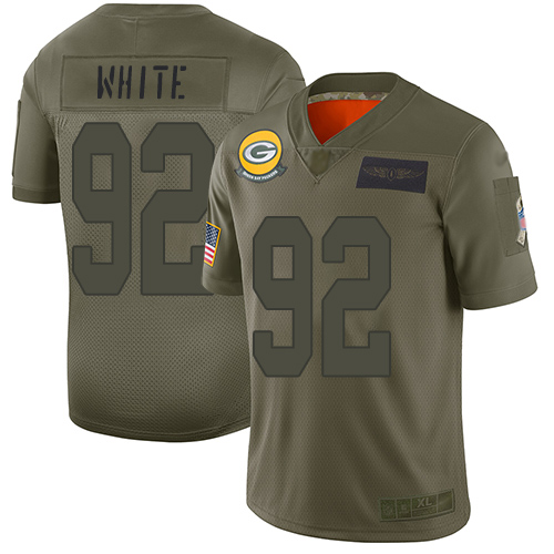 Nike Packers #92 Reggie White Camo Youth Stitched NFL Limited 2019 Salute to Service Jersey