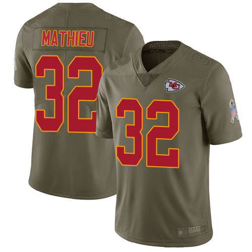 Nike Chiefs #32 Tyrann Mathieu Olive Youth Stitched NFL Limited 2017 Salute to Service Jersey