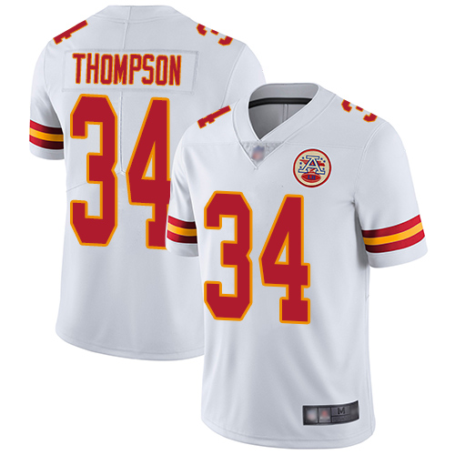 Nike Chiefs #34 Darwin Thompson White Youth Stitched NFL Vapor Untouchable Limited Jersey