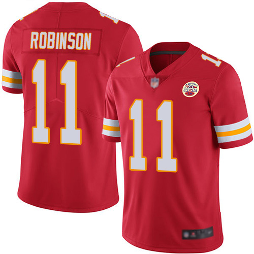Nike Chiefs #11 Demarcus Robinson Red Team Color Youth Stitched NFL Vapor Untouchable Limited Jersey