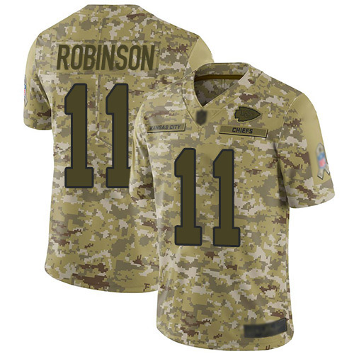 Nike Chiefs #11 Demarcus Robinson Camo Youth Stitched NFL Limited 2018 Salute to Service Jersey