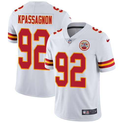Nike Chiefs #92 Tanoh Kpassagnon White Youth Stitched NFL Vapor Untouchable Limited Jersey