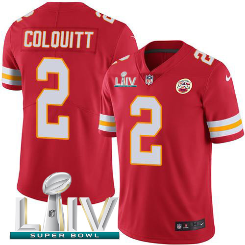 Nike Chiefs #2 Dustin Colquitt Red Super Bowl LIV 2020 Team Color Youth Stitched NFL Vapor Untouchable Limited Jersey