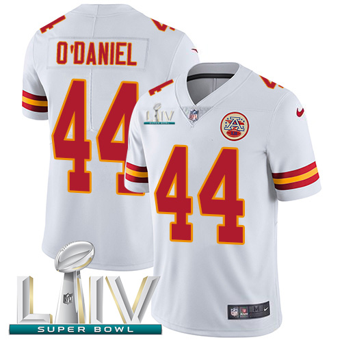Nike Chiefs #44 Dorian O'Daniel White Super Bowl LIV 2020 Youth Stitched NFL Vapor Untouchable Limited Jersey